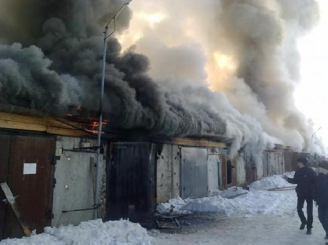 Фото о пожарах в гаражах