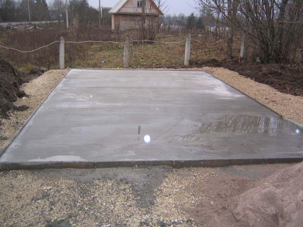 Монолитный фундамент для кирпичного гаража