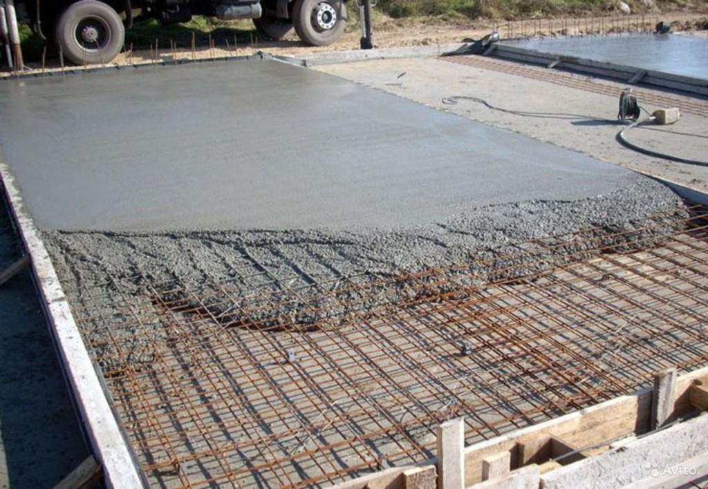 Монолитный фундамент с армированием для гаража