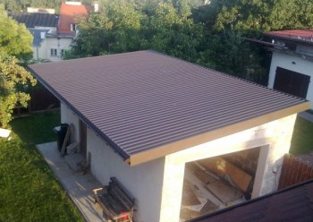 Односкатная крыша на гараж