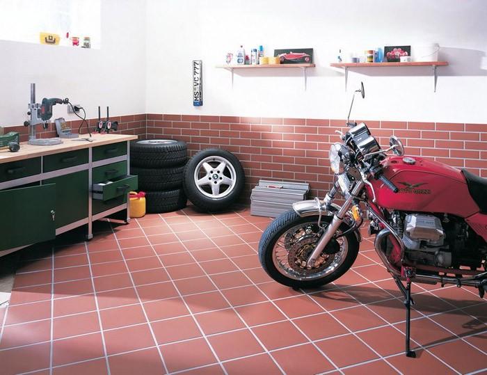 Применение резиновой плитки для пола гаража
