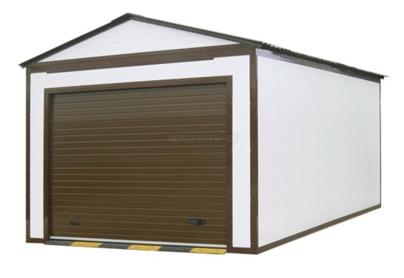 Пример быстровозводимого гаража из сэндвич панелей