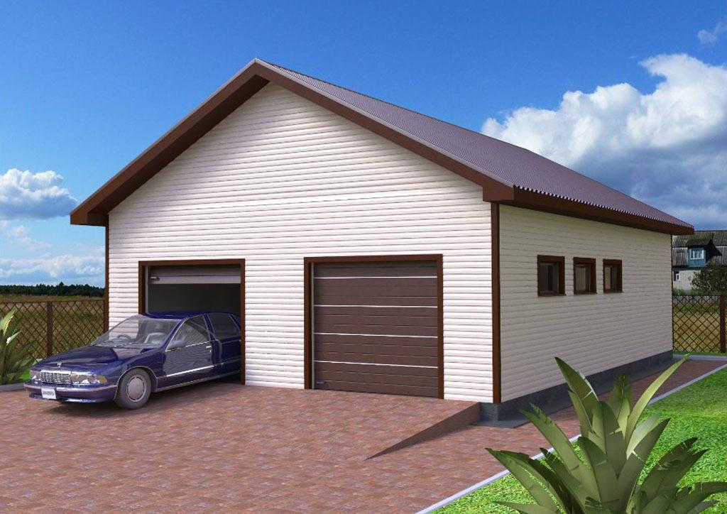 Пример гаража для двух машин