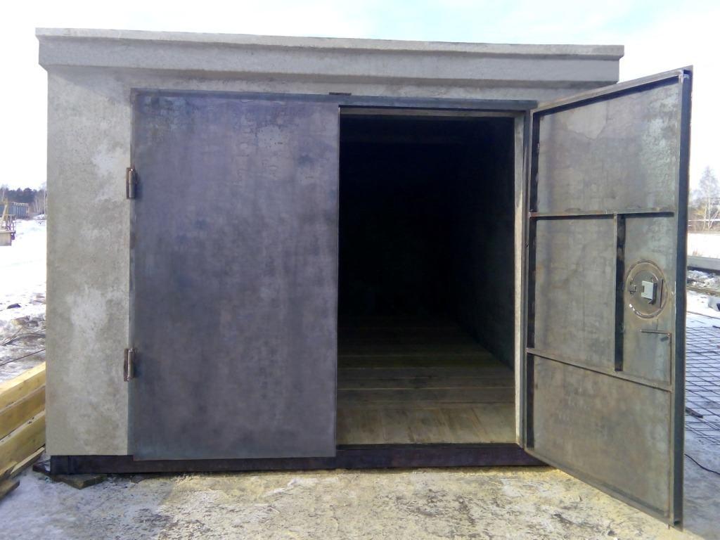 Пример монолитного ЖБИ гаража
