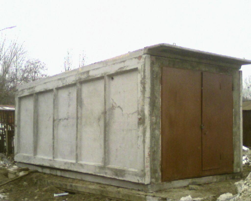 Пример сборного гаража из железобетонных модулей