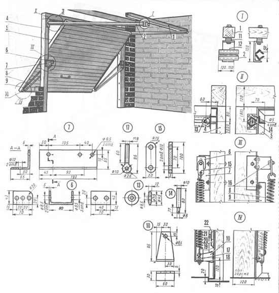 Шарнирно-рычажное устройство для автоматических ворот
