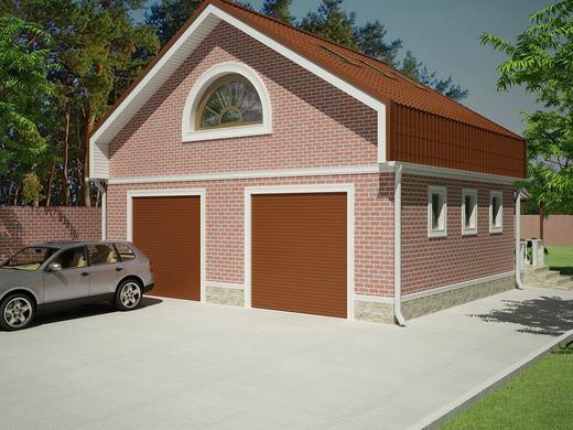 Составление проекта гаража со вторым этажом