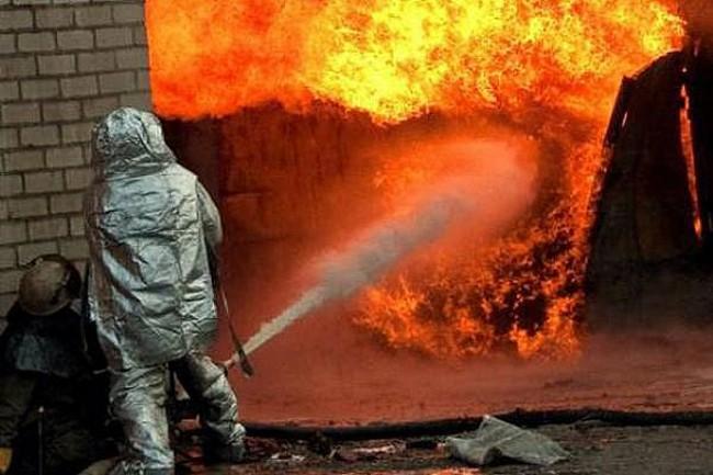 Тушение пожаров в гаражах