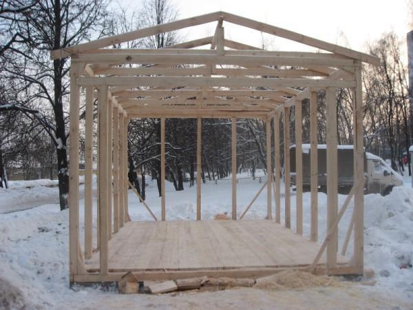 Устройство каркаса деревянного гаража