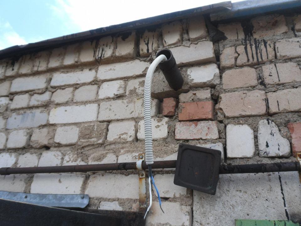 Подключение к электросети гаража