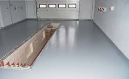 Покрытие полов гаража полиуретаном