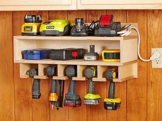 Полки для хранения электроинструментов