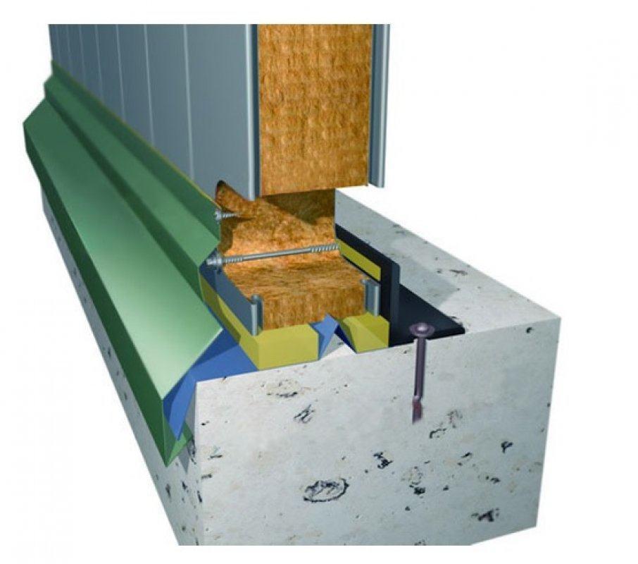 Пример установки панели на фундамент