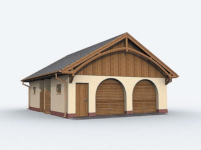 Проект гаража на две машины с хозблоком