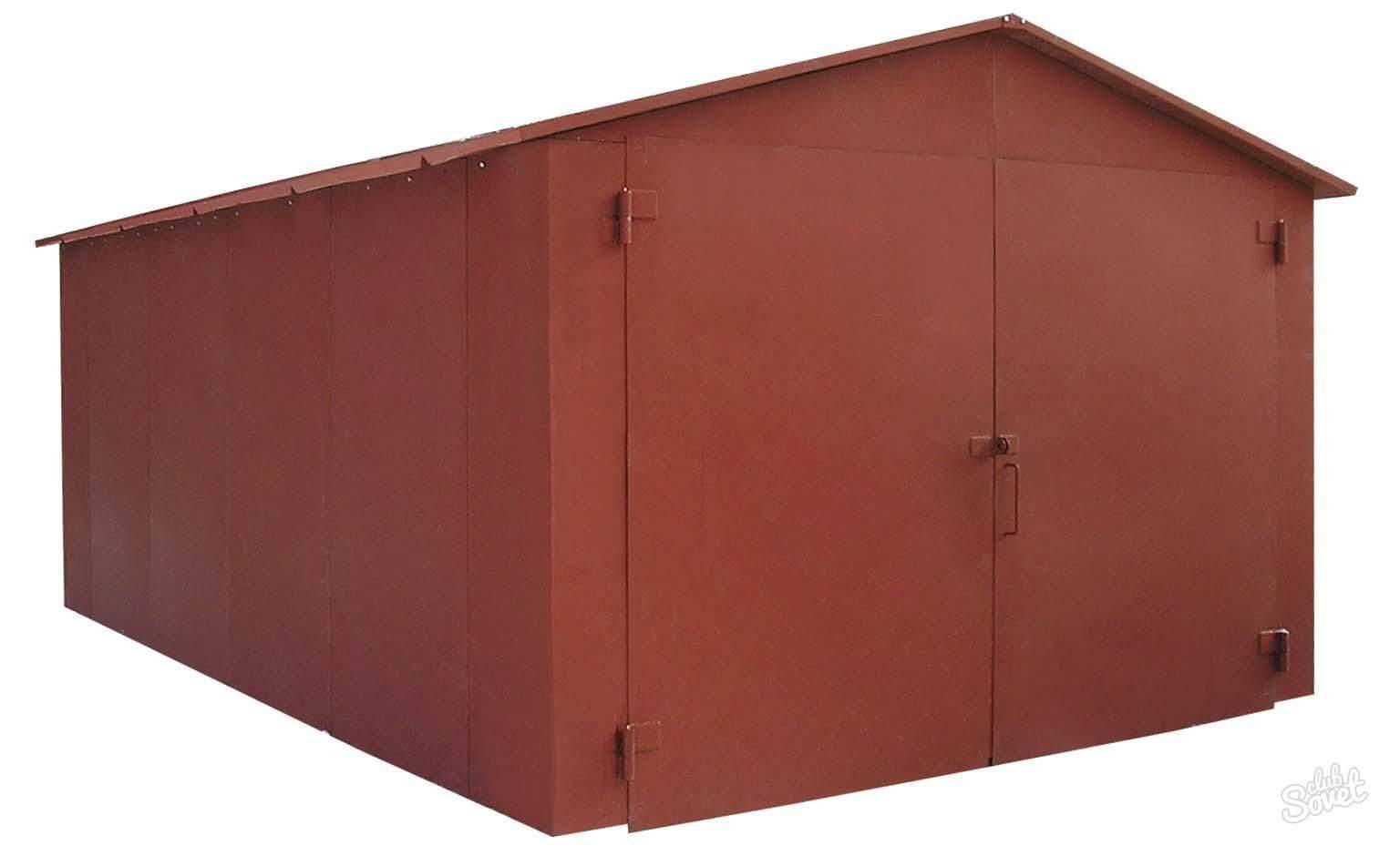 Металлический гараж в гск