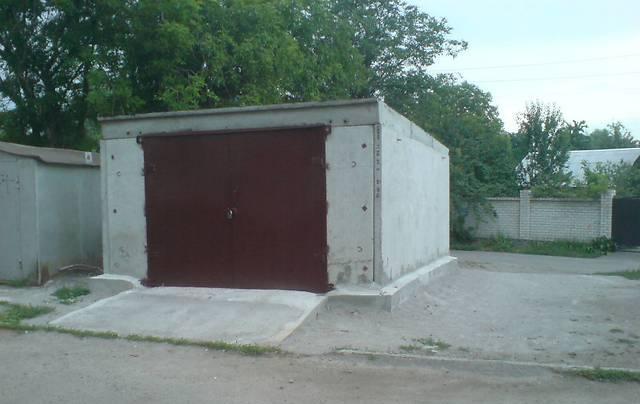 Сборный гараж из железобетонных панелей