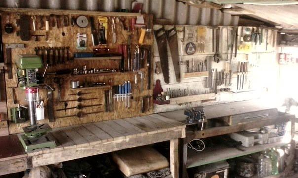 Размещение инструмента в гараже