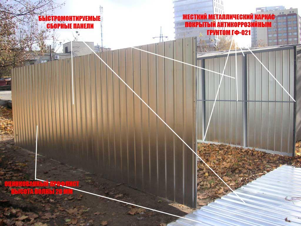 Сборка металлического гаража