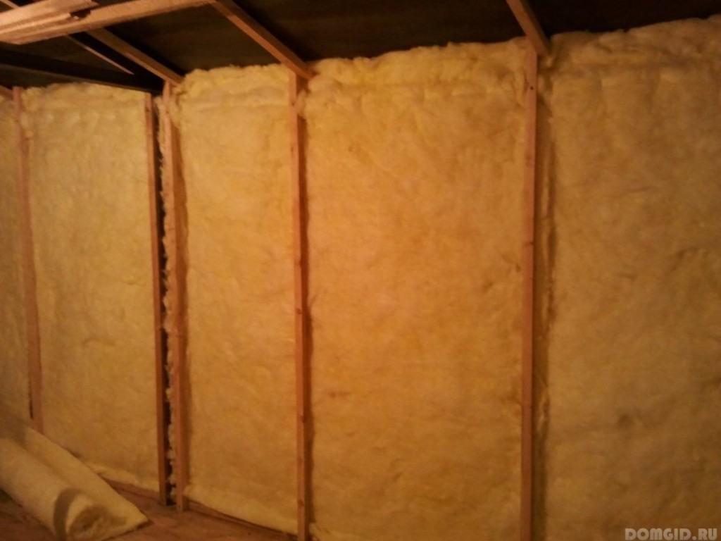 Утепление гаража минеральной ватой