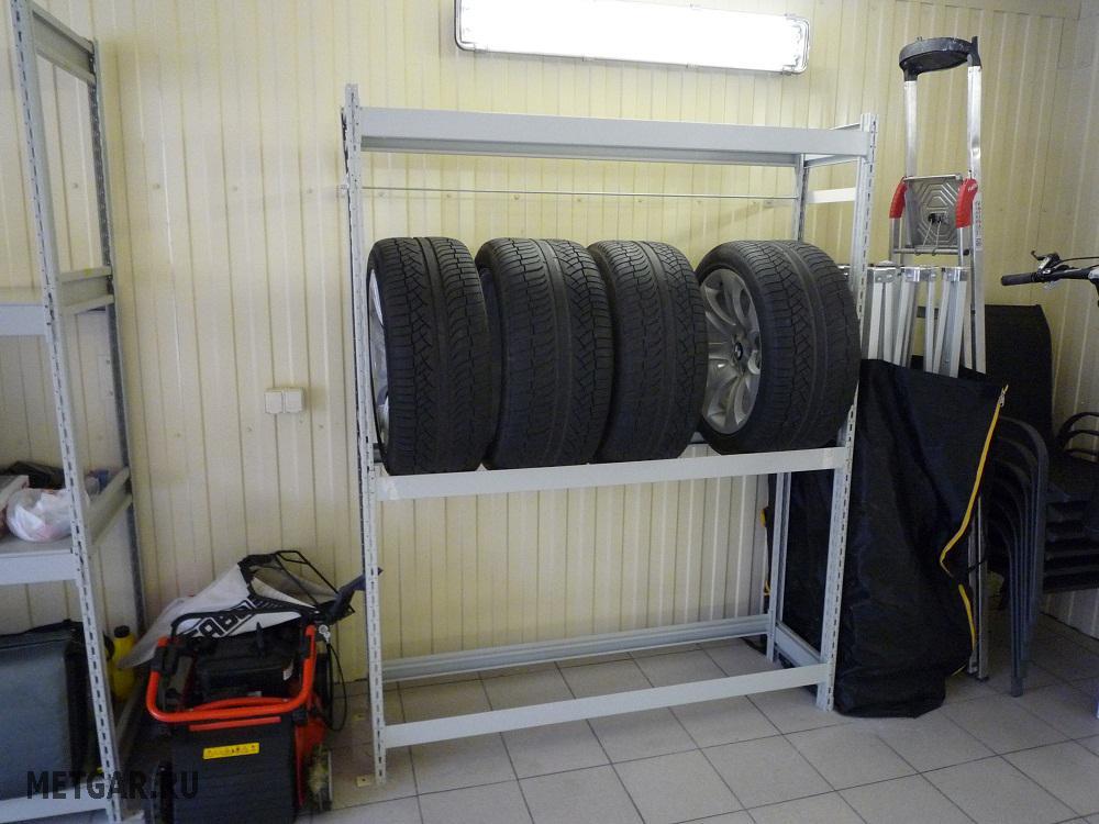 Хранение в гараже сезонной резины