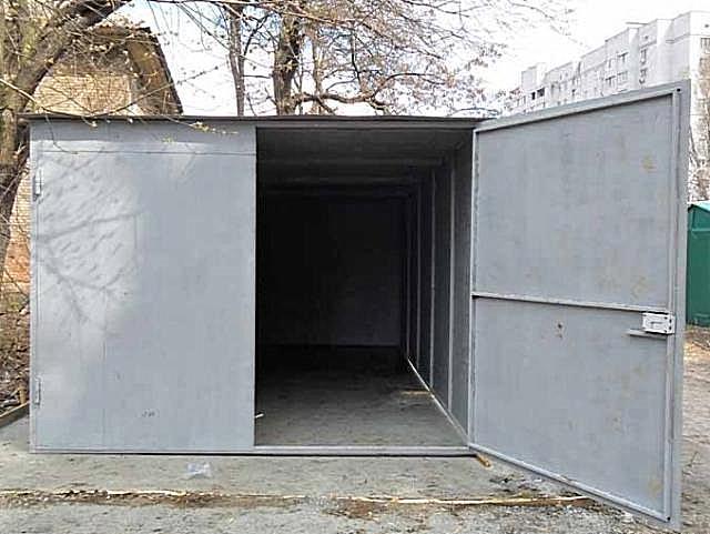 Металлический разборный гараж