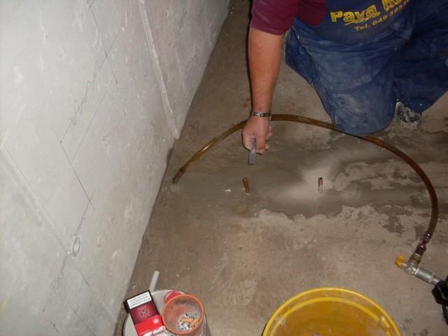 Осушение гаража с помощью инъекций