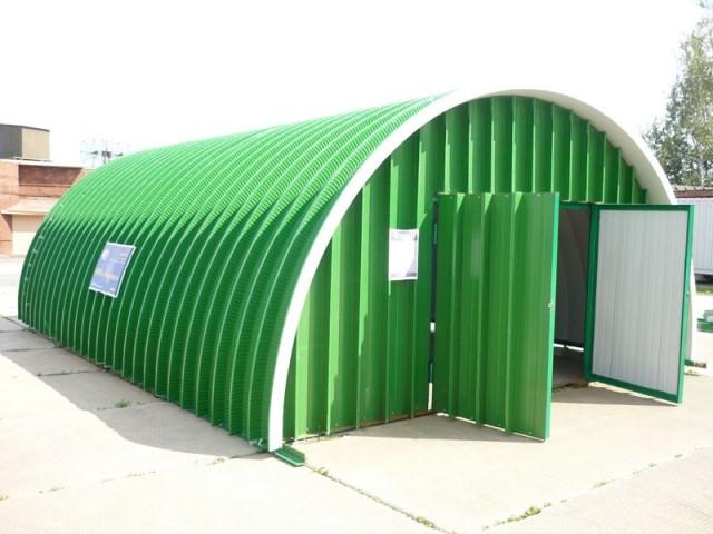 Бескаркасный металлический гараж