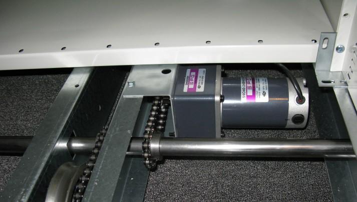 Электропривод для подвижных стеллажей