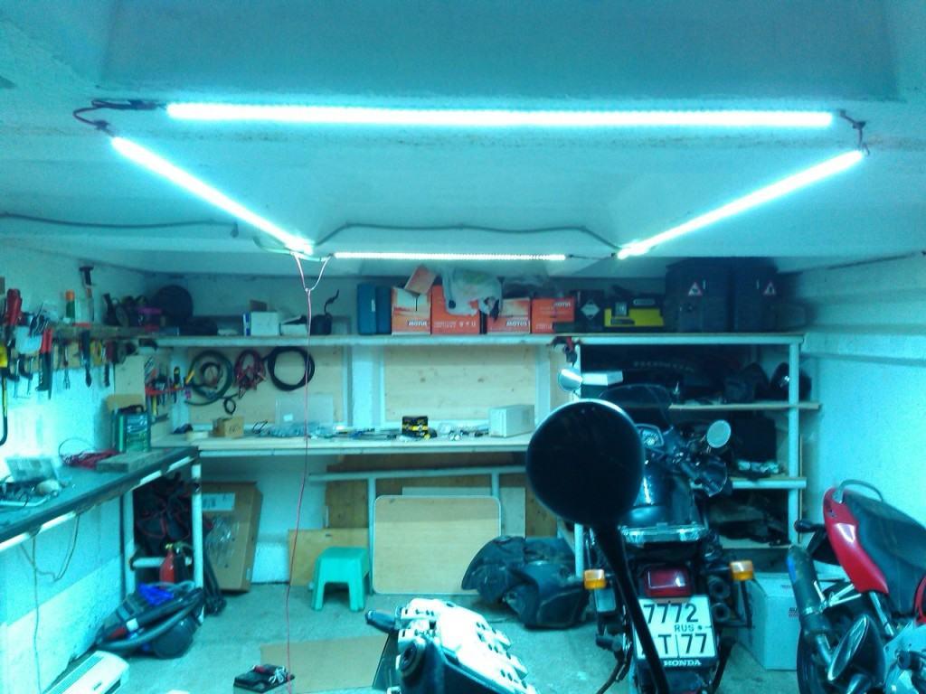 Освещение гаража без электричества