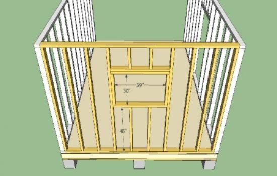Схема установки ворот с лядой