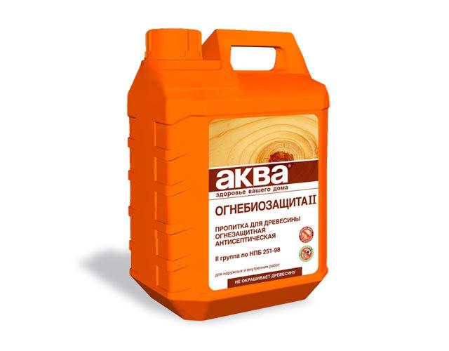 Специальная пропитка для защиты древесины от огня и воздействия микроорганизмов.