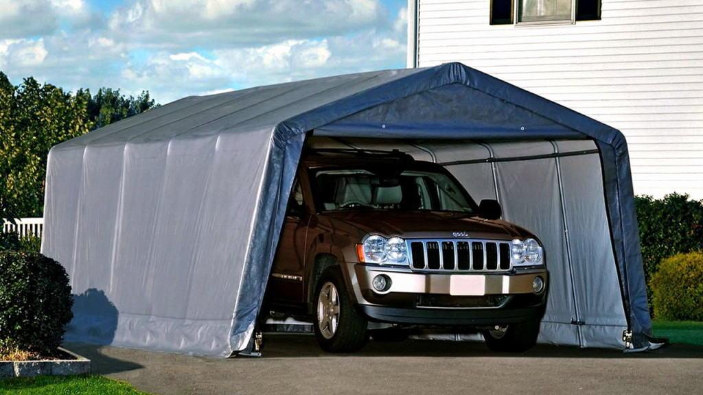 Тентовый сборно-разборный гараж для автомобиля.