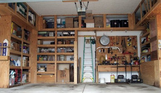 Деревянные стеллажи в гараж, сделанные своими руками.
