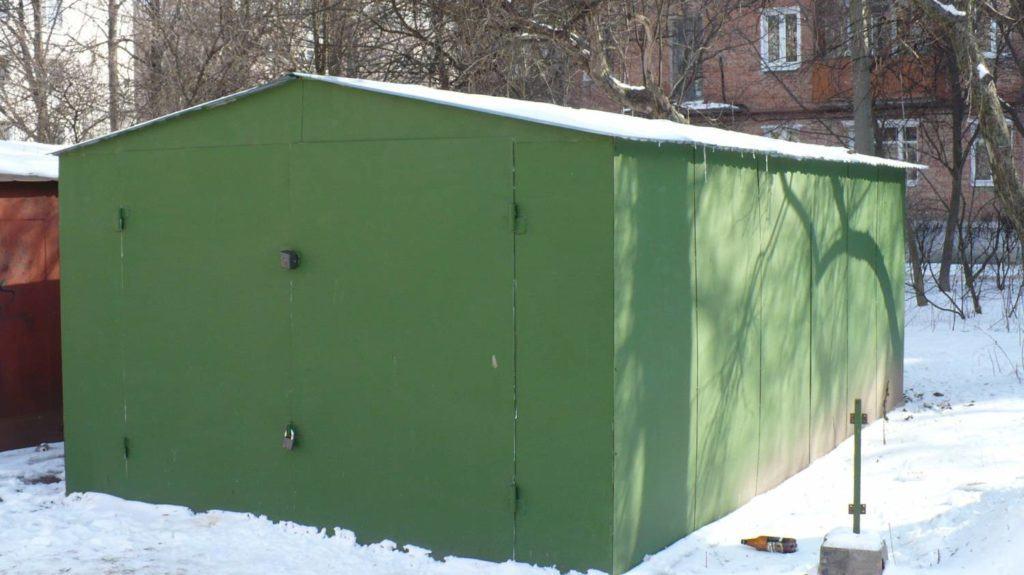 Металлический цельносваренный гараж из листовой стали.