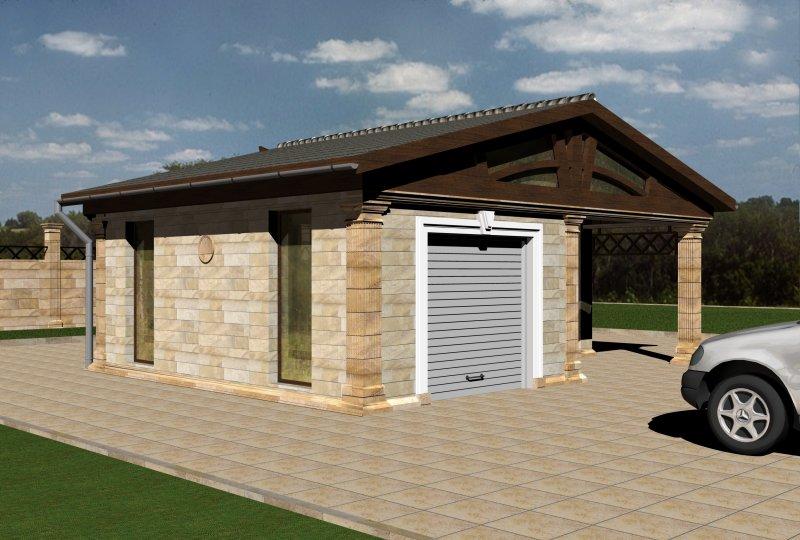 Отдельностоящий гараж для одной машины