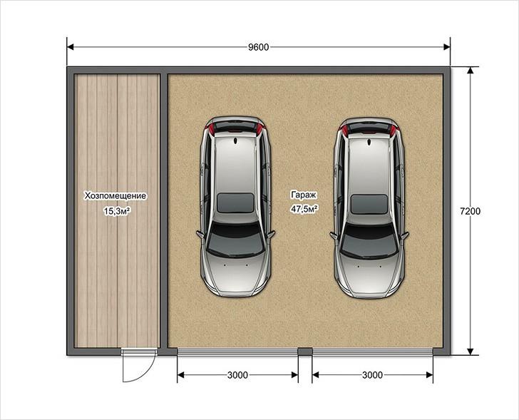 Размеры жби гаражей под два авто
