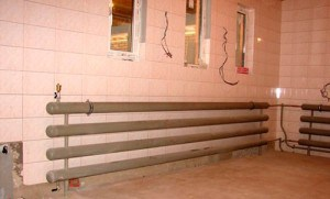 Система водяного отопления гаража.