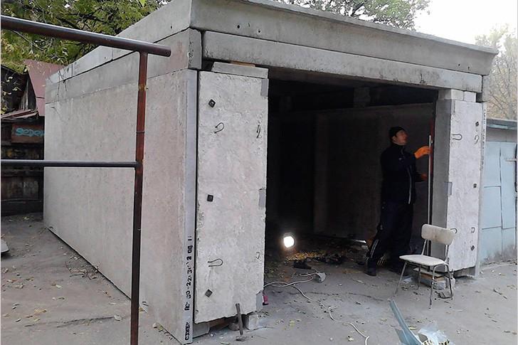 Строительство гаража из железобетонных плит