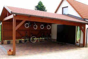 гараж с пристроенным карпортом