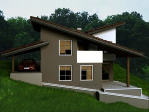 летний дом на холме
