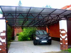 навес как альтернатива гаражу