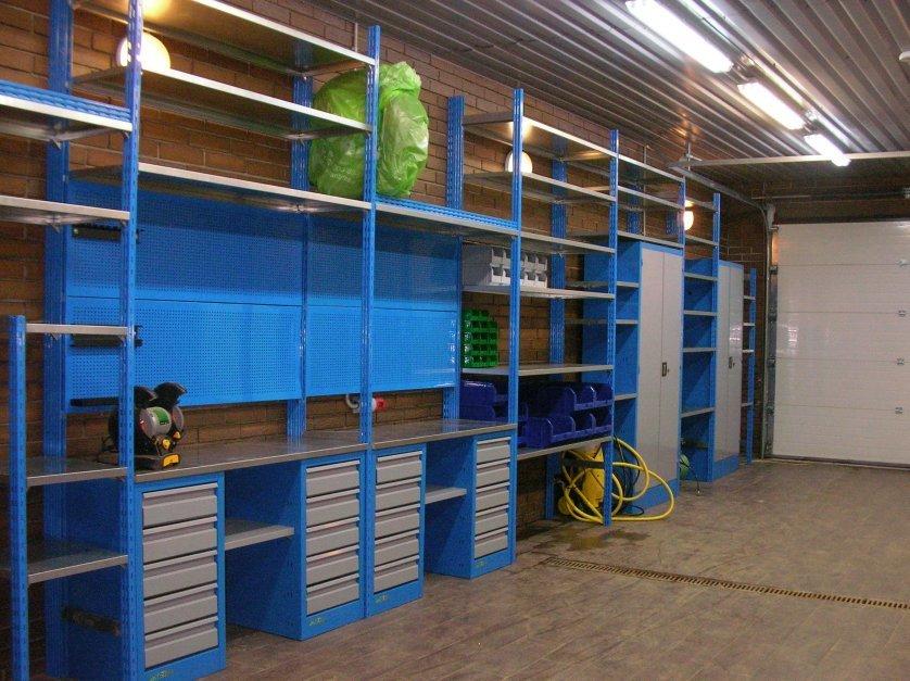 Изготовление стеллажей для гаража своими руками