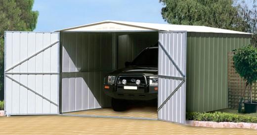 Современный гараж с системой сигнализации
