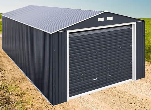 Каркасный гараж из металлосайдинга имеет меньший вес, чем цельносварной.