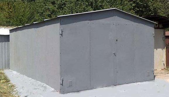 Металлический гараж цельносварной.