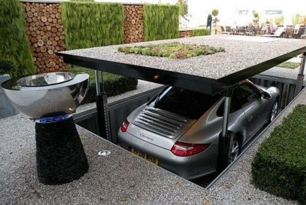Чертеж подземного гаража