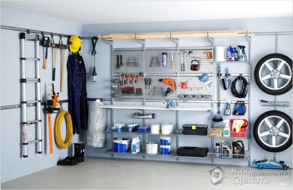 Металлический стеллаж для гаража