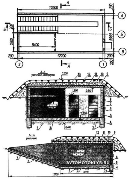 План подземного гаража