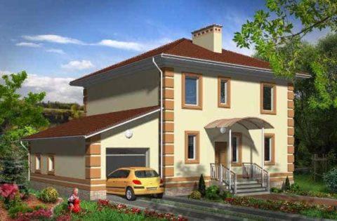 Гараж и дом с общей стеной