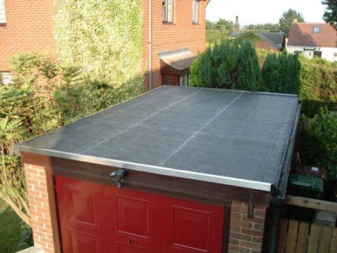 Оформление крыши гаража